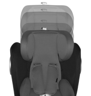 adjustable headrest in 7 position